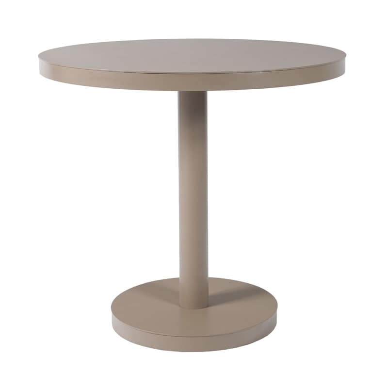 Basel O80, Round table for bars, in aluminum, steel, made in CE