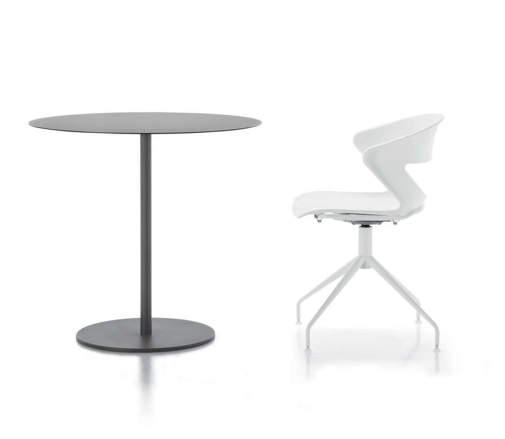 Kapio 75, Metal tables with round base