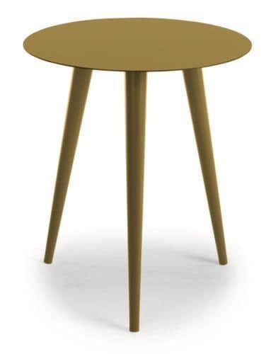 Tondo, Round table in metal, for outdoor use