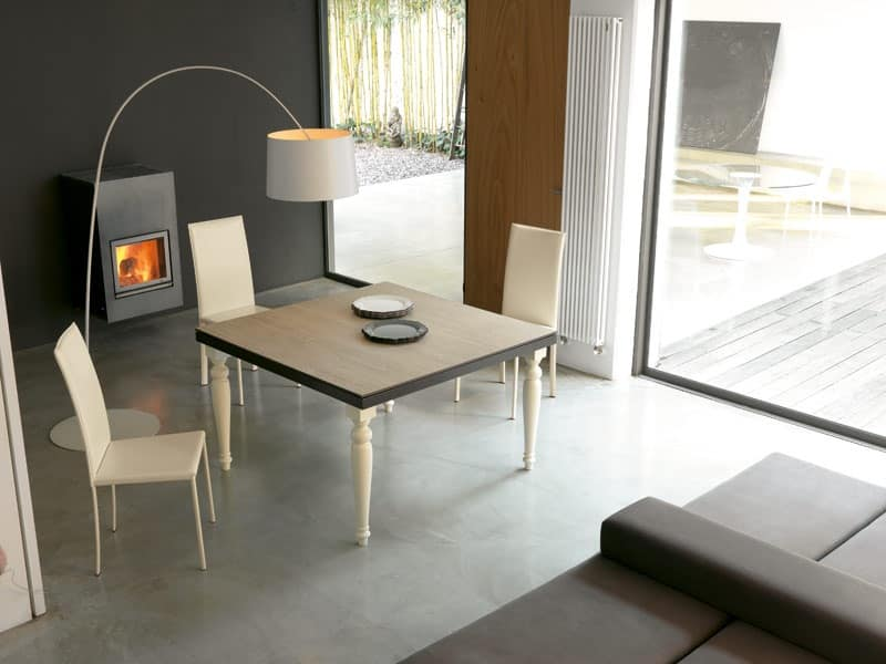 dl60 lisbona, Table with metal structure, for dining room