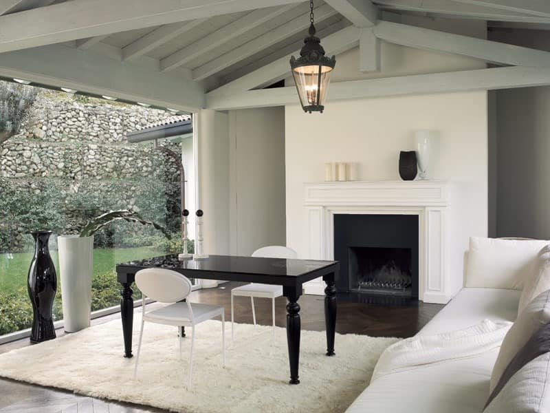 dl60 praga, Table with metal frame for living room