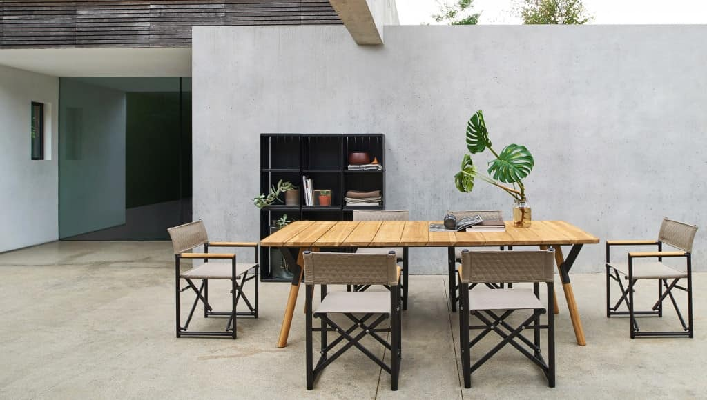 Link table, Extendable table made of steel, various finishes, for outdoor