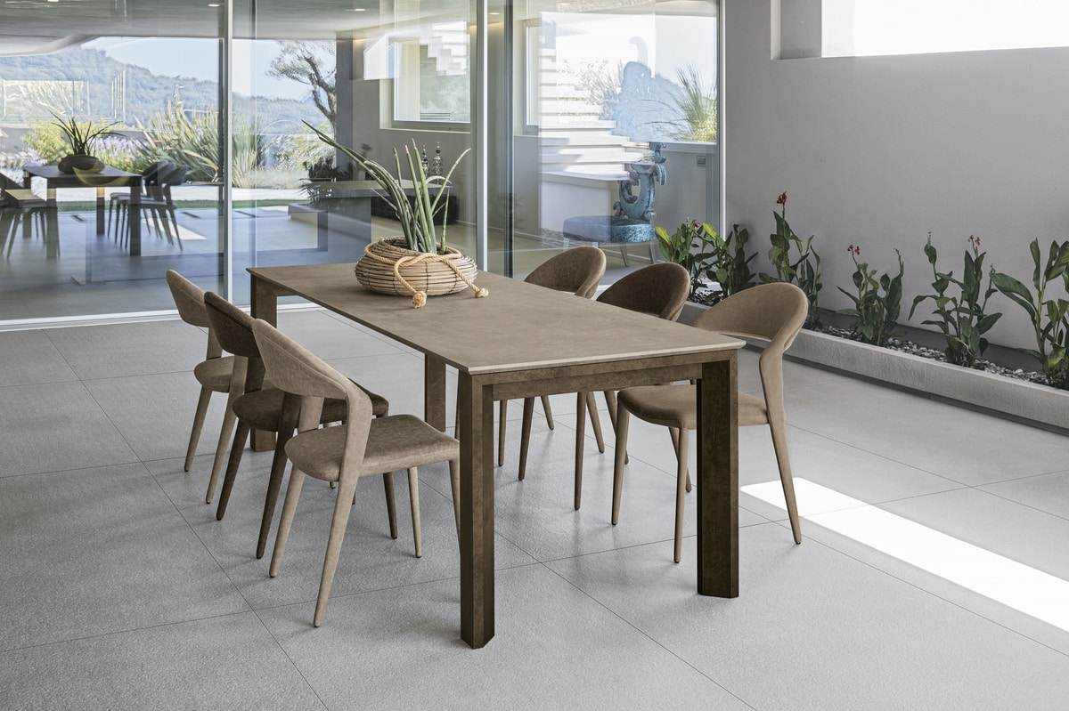 LYTHOS 160 TA514, Table with top in different materials