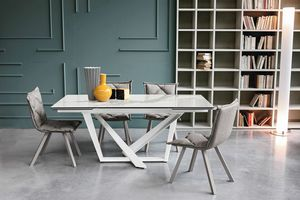 PRIAMO 160 TA1B1, Table with extendable top in porcelain stoneware