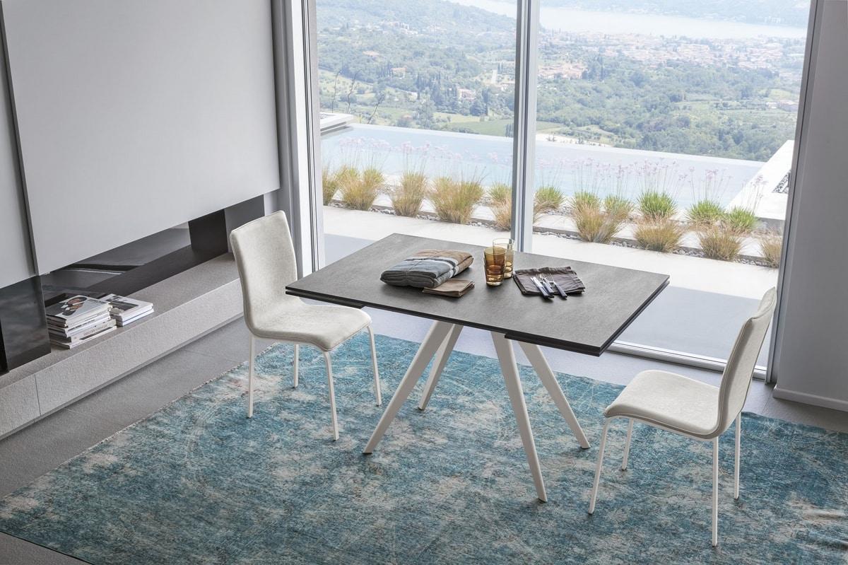 PROMETEO 130 TA1C7, Extendable dining table