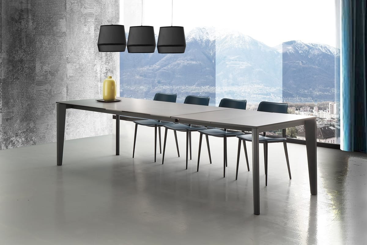s07 merlino, Dining table with one or two extensions