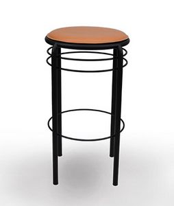 402, Stool with round leather seat