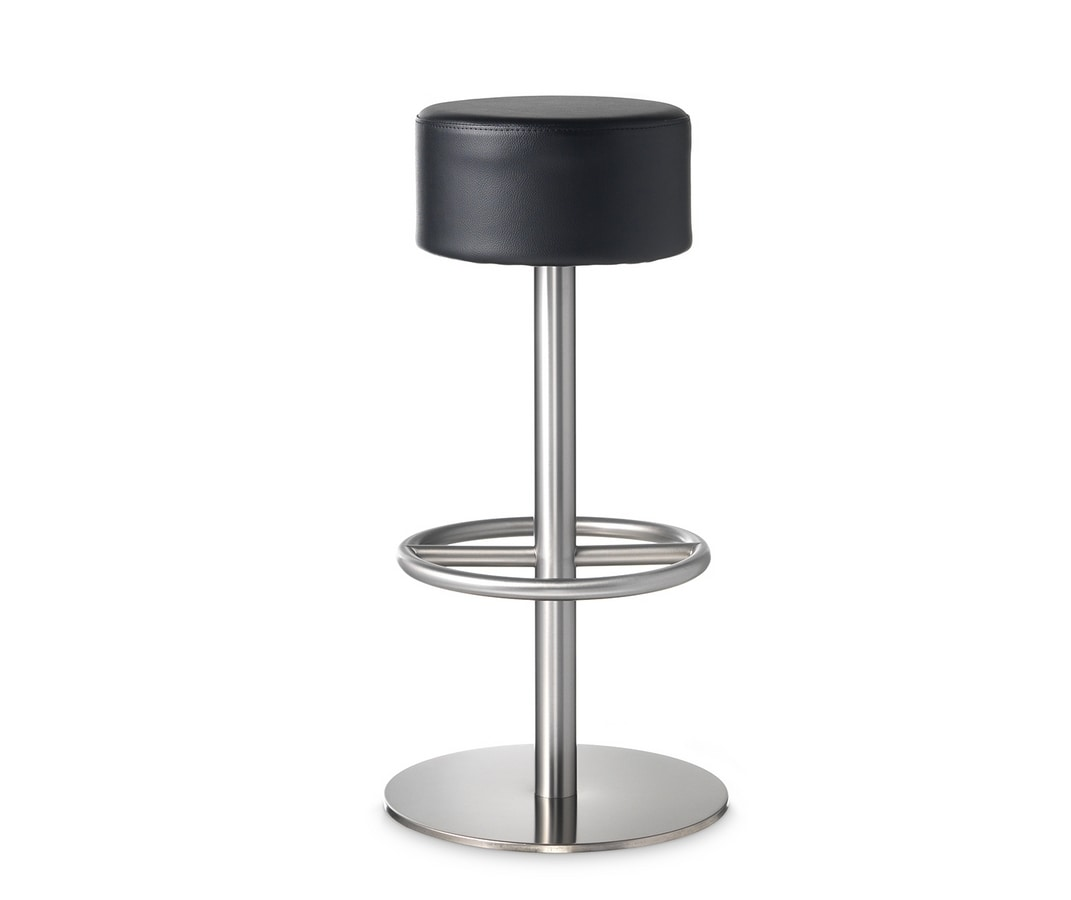 530 Galaxy, Stool with round eco-leather seat