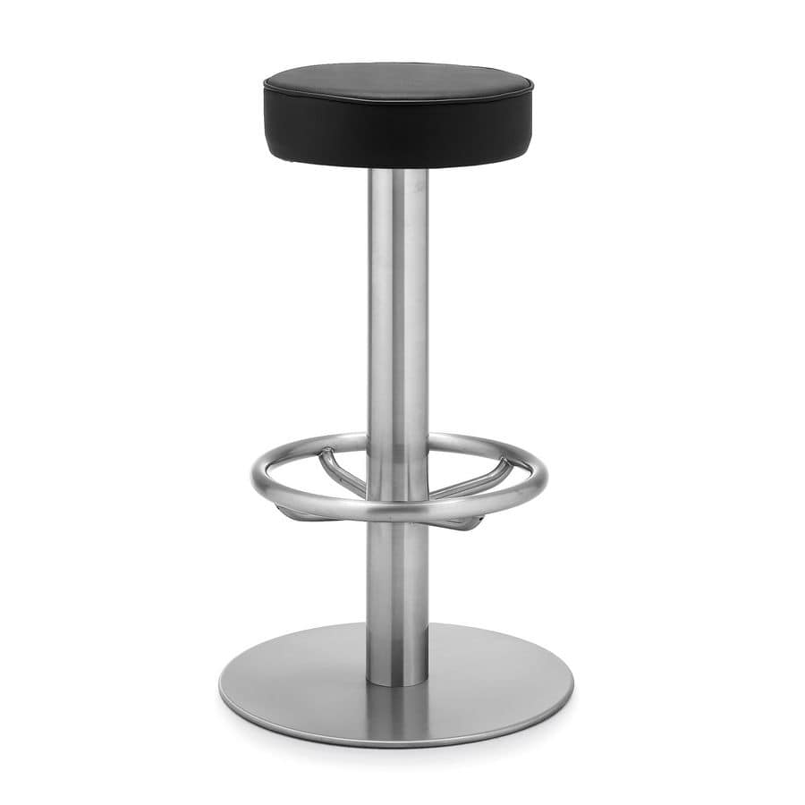 Art.106, Barstool with round seat ideal for bar and hotel