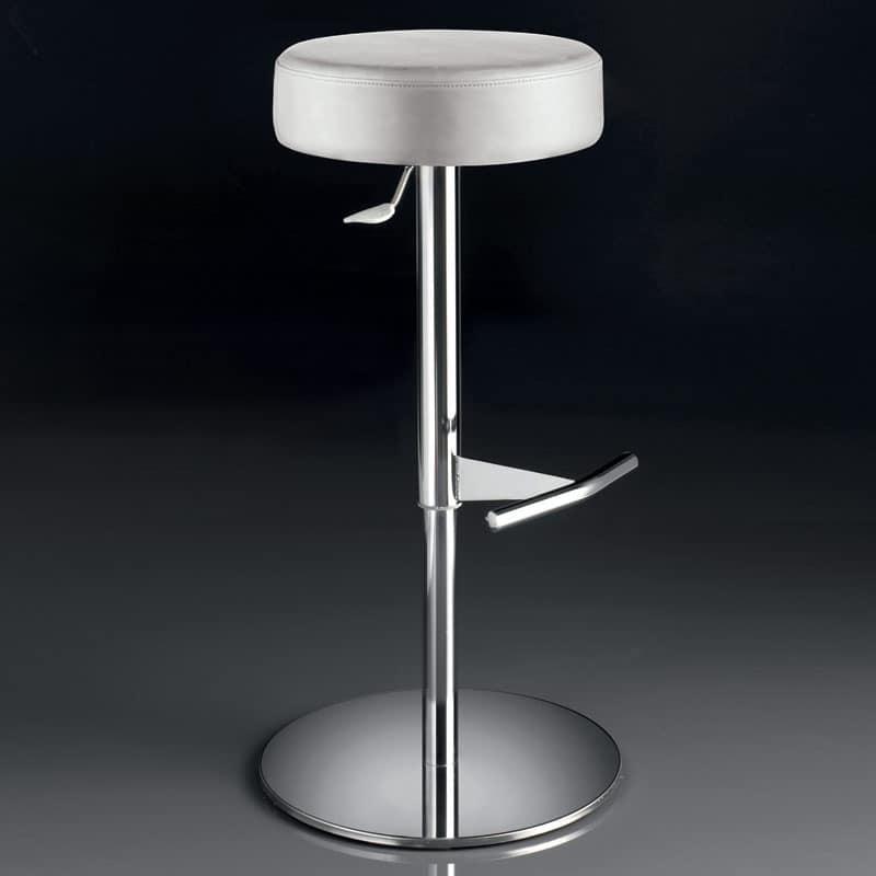 ART. 244/B SOFT, Swivel stool, height adjustable, with round seat