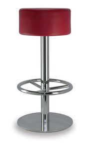 Cilindro 6063, Stool with round padded seat