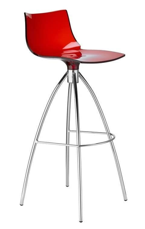 Daylight, Fixed stool in steel and polycarbonate