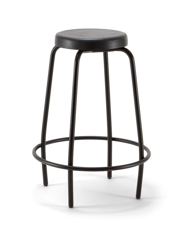 Duke 04, Metal stool with round seat