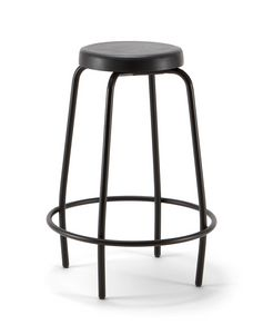 Duke 04, Metal stool with round seat