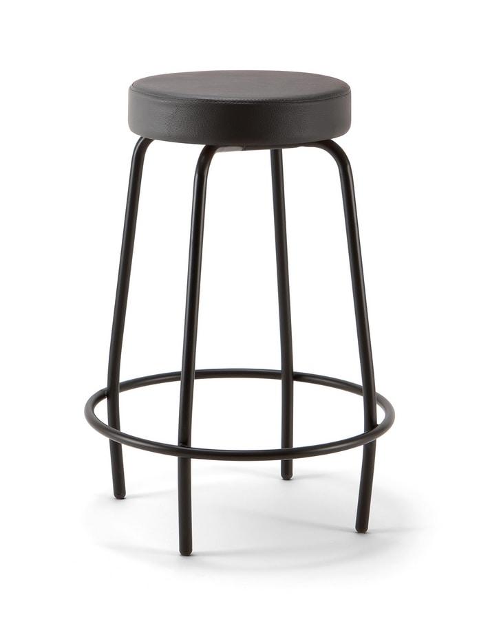 Duke Soft 04, Metal stool, with padded seat