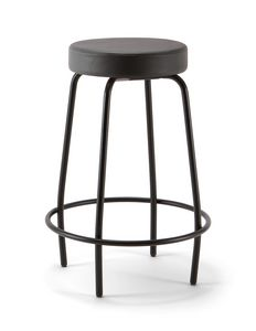 Duke Soft 04, Metal stool, with padded seat