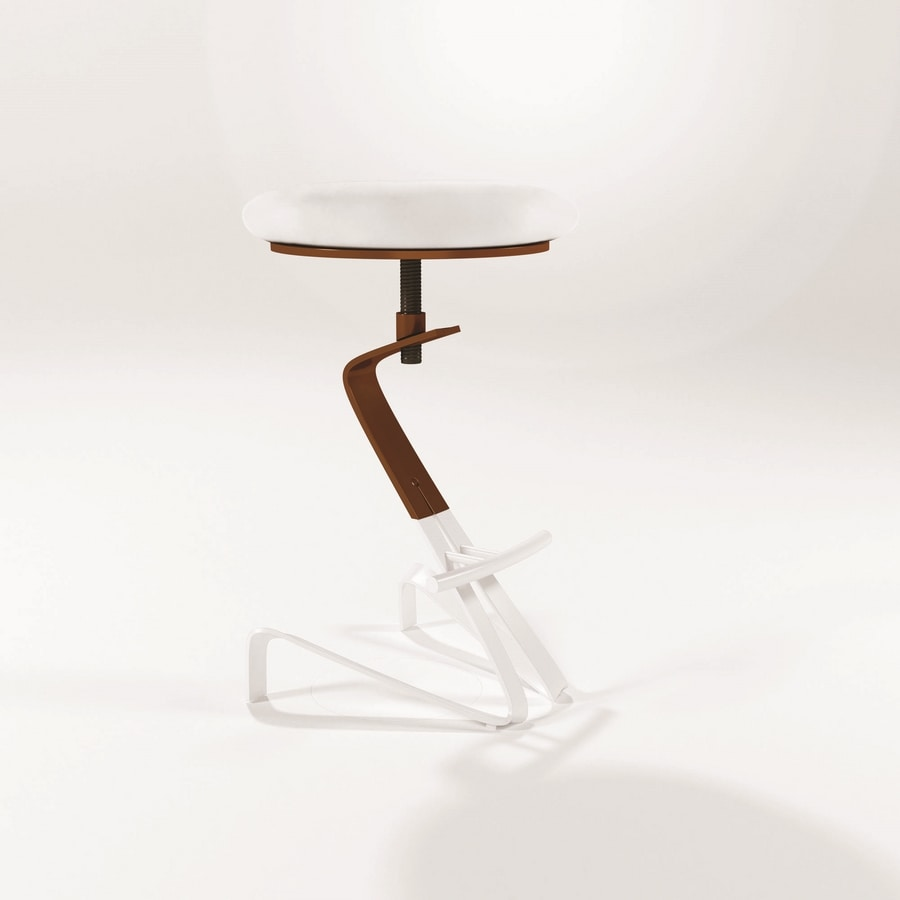 Herbie, Modern stools with round seat and height adjustable