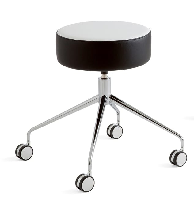 Kat, Barstool with round seat in various colors, Swivel base