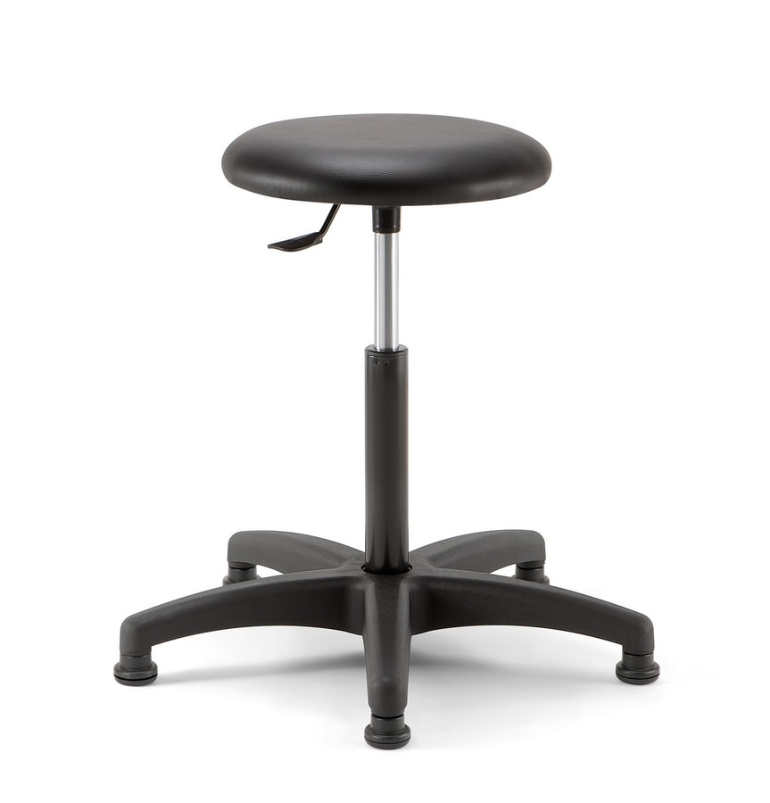 Mea Soft 02, Stool with round seat