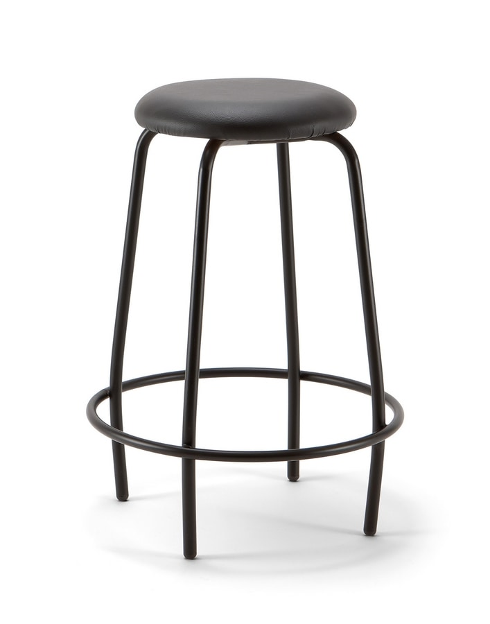 Mea Soft 04, Stool with padded round seat