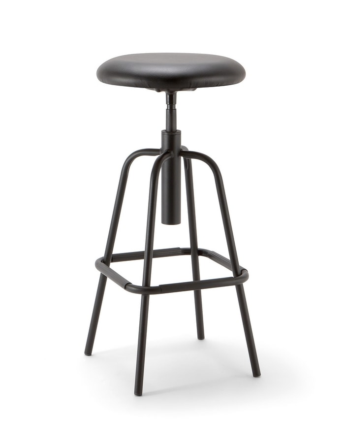 Mea Soft 05, Swivel stool with round seat
