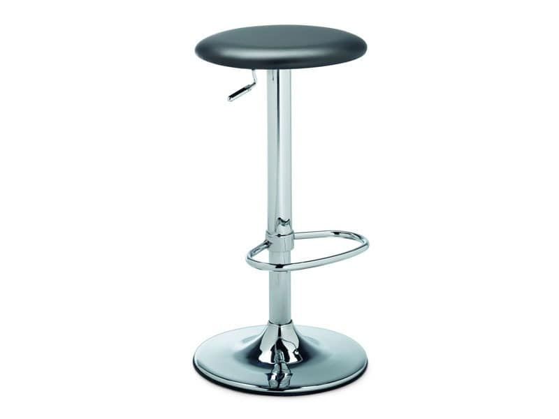 SG 341, Stool round, with modern lines, for bar counter