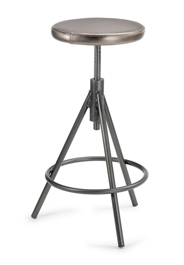 Vitone 1 SG, Stool with adjustable screw seat