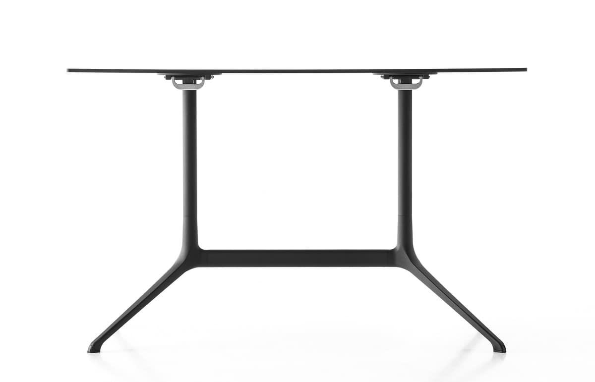 Elephant table rectangular, Folding rectangular table in die-cast aluminum