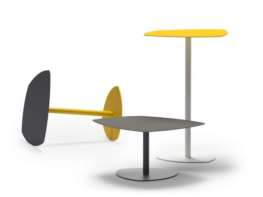 HIGH STEEL TABLE, Coffee table in steel, in various colors