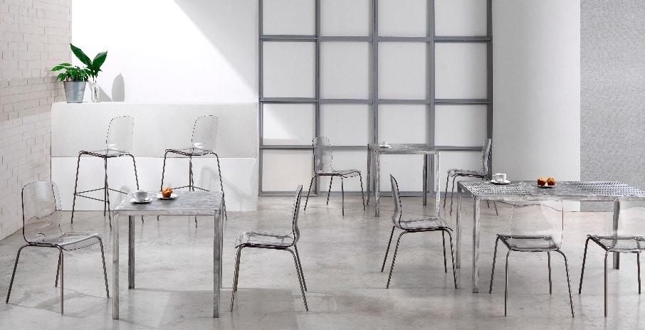 Hope, Square metal table