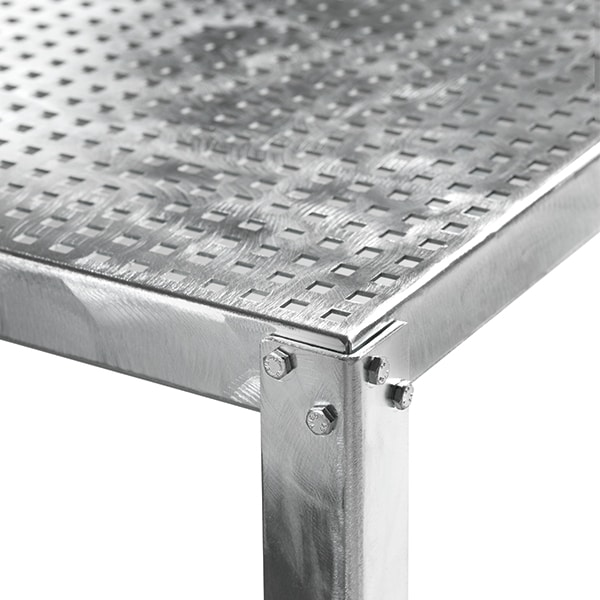 Hope, Square metal table