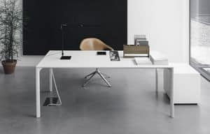 Maki, Extendible table in aluminum with rounded edges