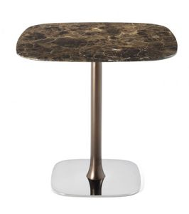 Rendez-vous 40.0501, Table with metal base and customizable top