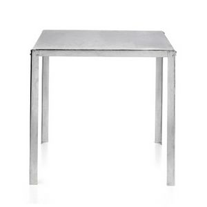 TA50, Galvanized steel table with square top