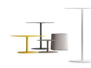 STEEL TABLE, Tables in painted steel, various heights