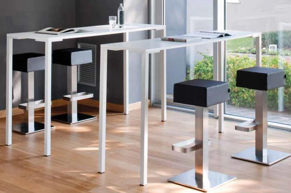 Togo H110, High table, in metal, also for outdoors