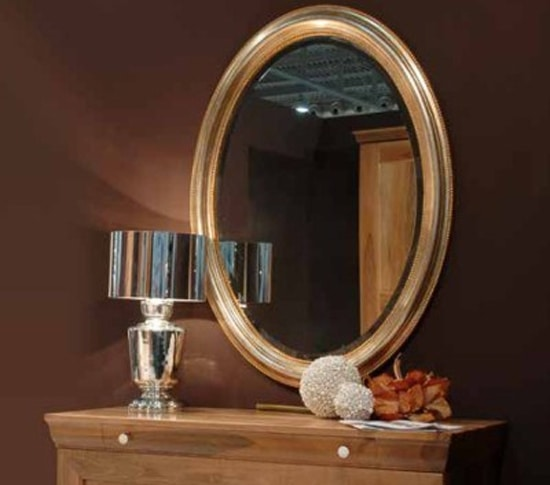 134, Wall mirror, with wooden frame