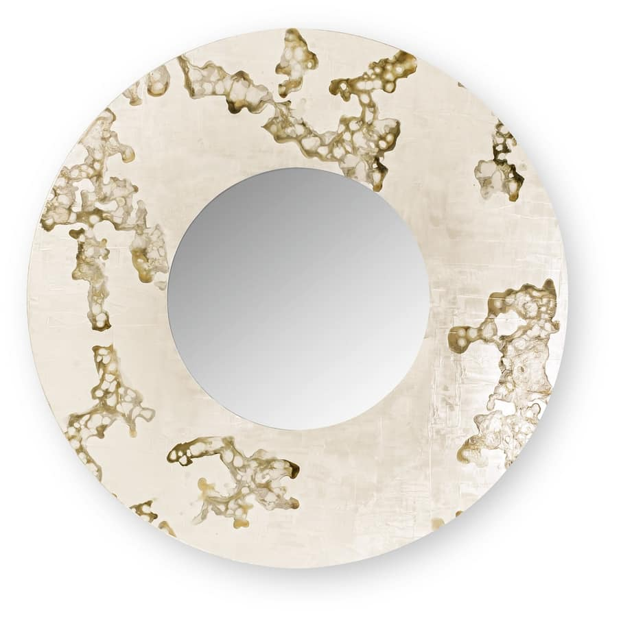 Africa Flowing round, Round mirror with decorated frame