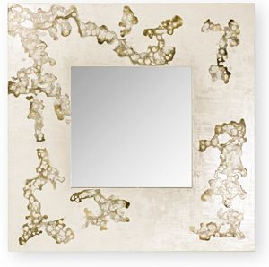 Africa Flowing, Square mirror with decorative frame