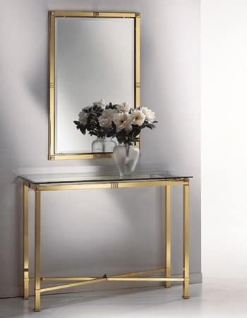 AMADEUS 3092 MIRROR, Mirror classic, in polished brass and polished brass