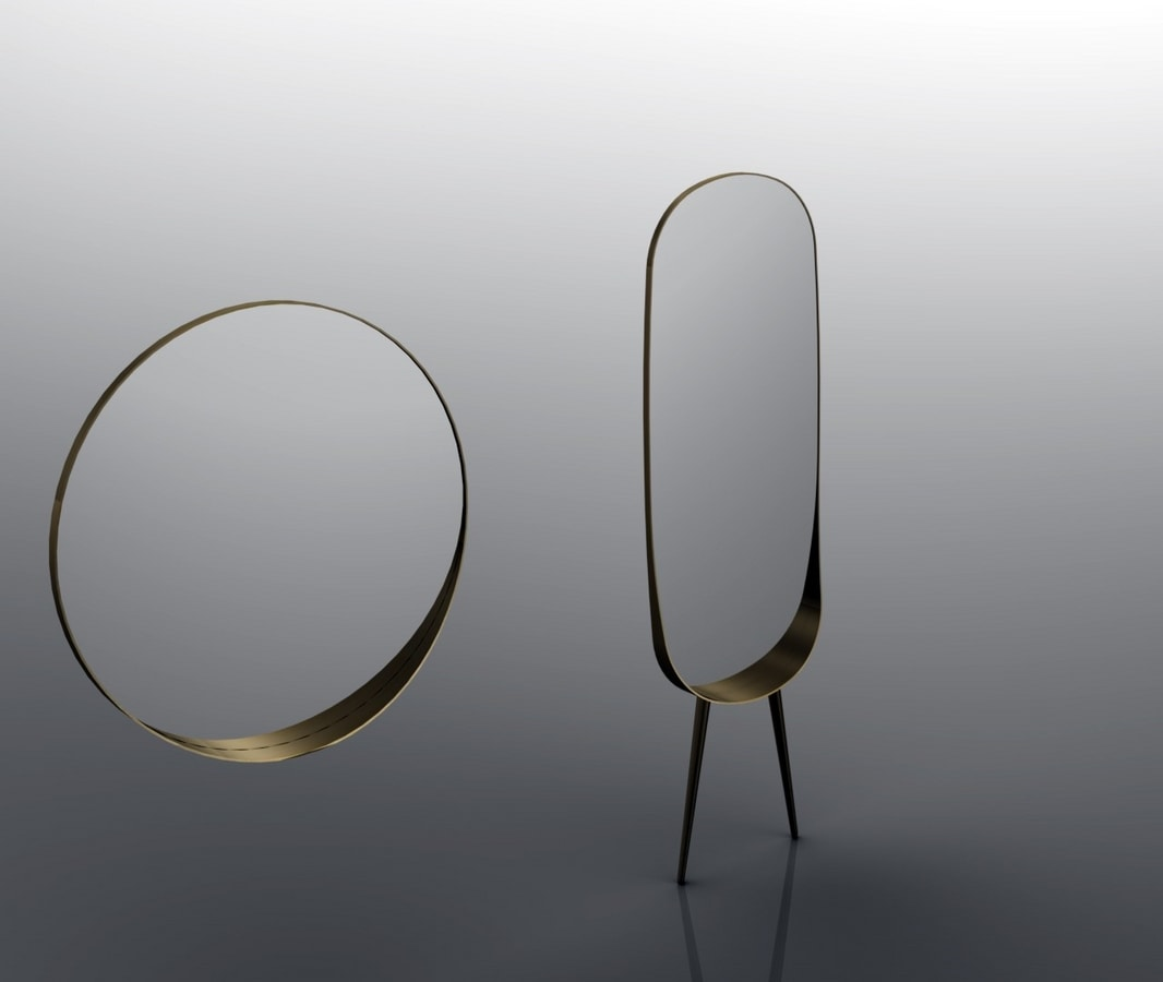 ANJA, Oval mirror, with legs