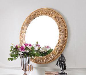 Art. 234/S, Classic round mirror with carved frame