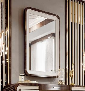 ART. 3375, Mirror with eucalyptus frame and leather details