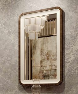 ART. 3378, Mirror with leather and eucalyptus frame