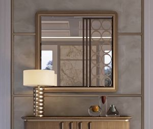 Art. 5021, Square mirror in canaletto walnut
