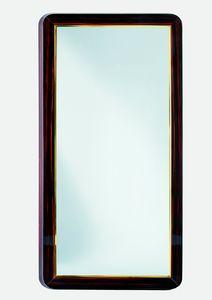 Art. W07 glossy shiny macasar ebony, Mirror with ebony frame
