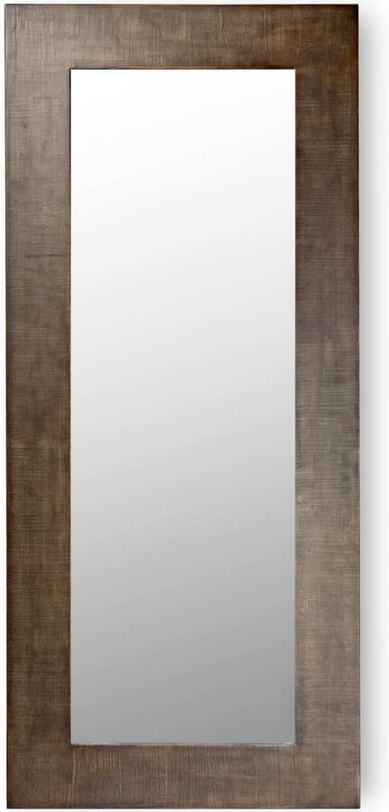Asia, Wall mirror with wooden frame