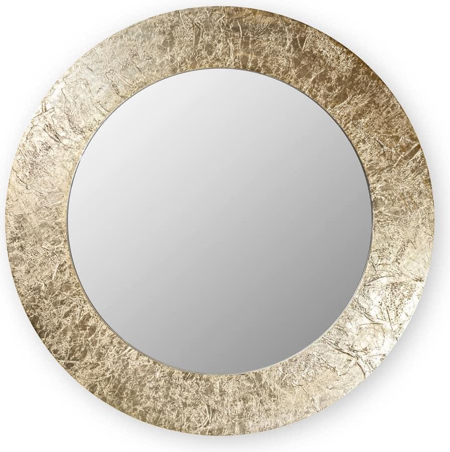 Asia round, Mirror with round frame
