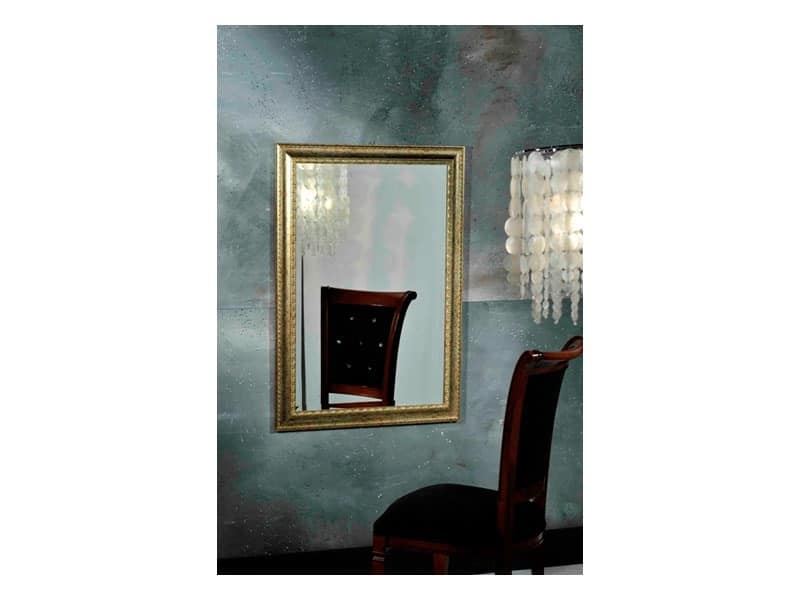 BALHAS mirror 8327M, Classic style frame with finishings in gold sheets