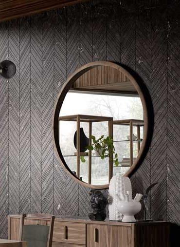 Blabla mirror, Maxi mirror, with round shape